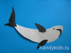 Аппликация-акула