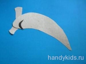 С Сделаем из бумаги рыбу-молот