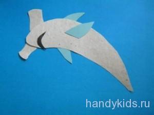 Как сделать из бумаги рыбу-молот
