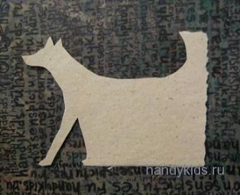 Вырезаем контур собаки