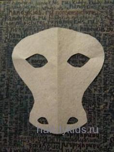 Выкройка  к маске жирафа