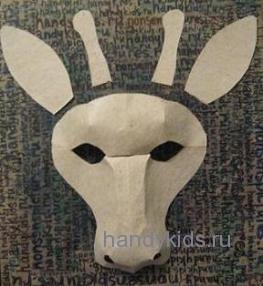 Детали маски жирафа.
