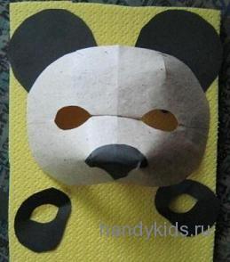 Детали маски панды