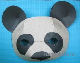 Готовая маска панды