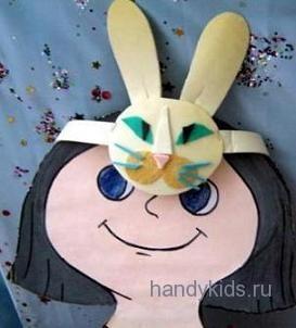 Маска кролика или зайца