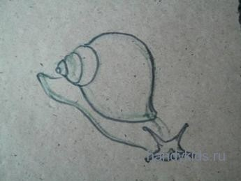 Как рисовать улитку