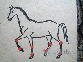 Как рисовать ноги лошади