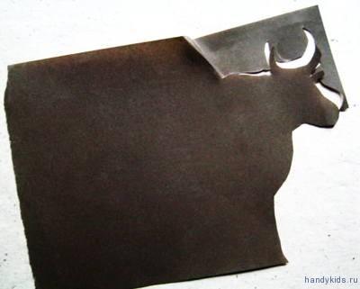 Вырезание силуэта коровы