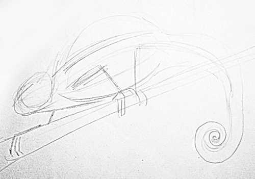 Рисуем хамелеона 7