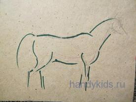 Рисование коня