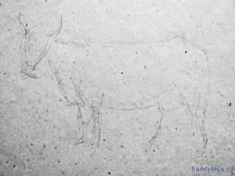 Рисунок коровы карандашом
