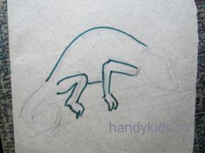 Изобразим хамелеона