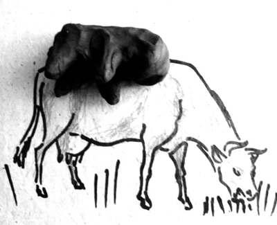 Лепим корову