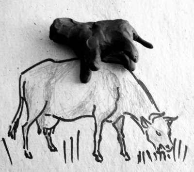 Лепка корова