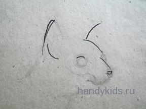 Рисуем котика поэтапно