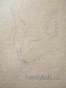 Рисуем мордочку кошки