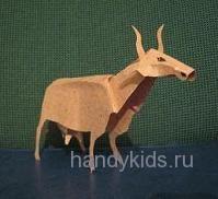 Бумажная модель коровы