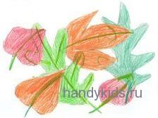 Ракраска осенние листья