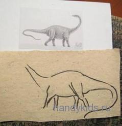 Рисуем динозавра-диплодока