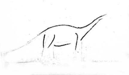 Рисуем диплодока