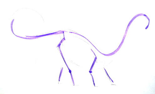 Схема строения диплодока