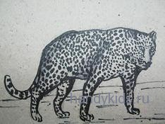 Рисуем леопарда