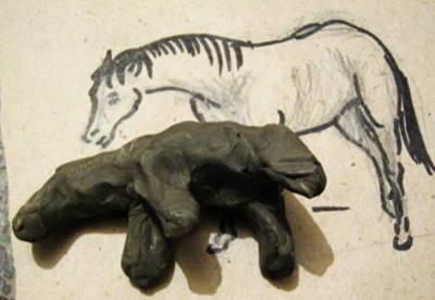 Лепка Лошадь