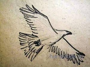 Рисуем летящего орла