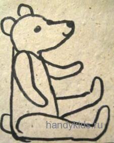 Раскраска Плюшевый медведь