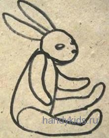 Раскраска Игрушечный Заяц