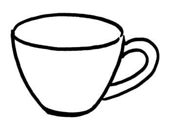 Раскраска Чашка