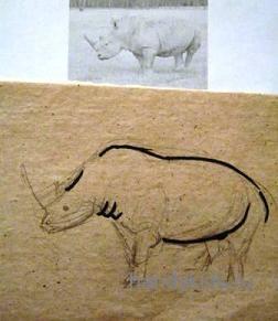 Рисуем носорога поэтапно