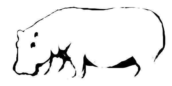 Бегемот(гиппопотам)рисунок