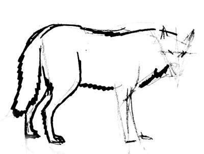 Рисуем волка реалистически