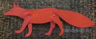 Как сделать плосую подвижную модель животного