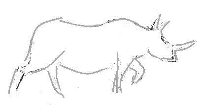 Носорог эскиз