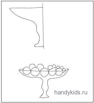 Раскраска с дорисовыванием -ваза