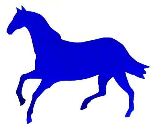 силуэт скачущей лошади