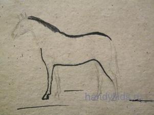 Нарисуем лошадь поэтапно