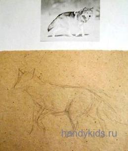 Рисуем волка