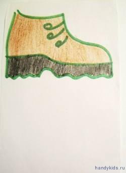 Раскраска Ботинки.
