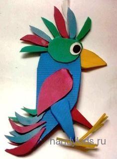 Ёлочное украшение-попугай