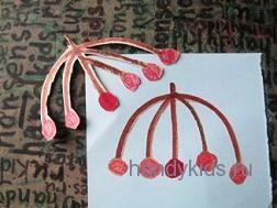 Аппликация гроздь ягод