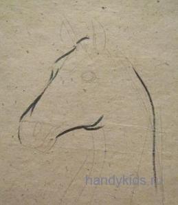 Рисуем Морду лошади