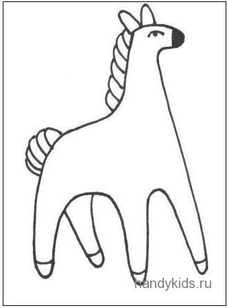 Раскраска Конь