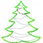 Новогодняя раскраска  ёлка