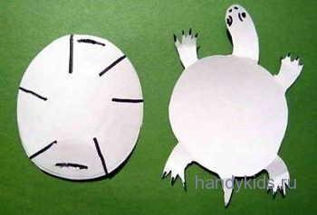 Выкройка для модели черепахи