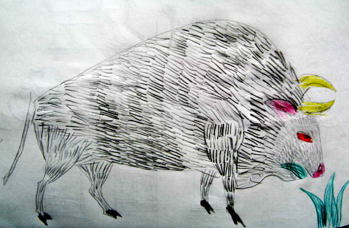 Лубочный бизон