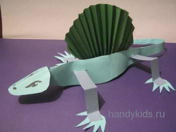 Эдафозавр -динозавр из бумаги