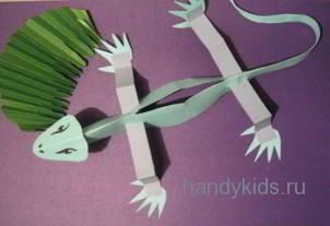 Сделаем динозавра из бумаги